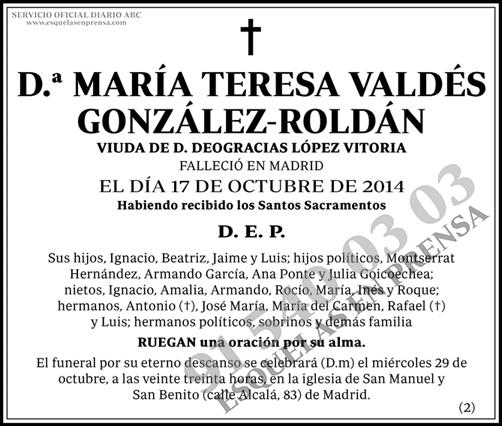 María Teresa Valdés González-Roldán